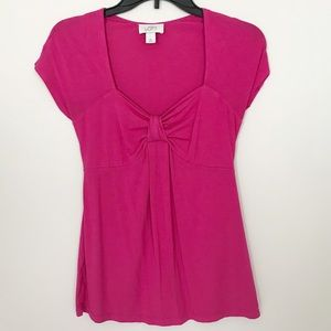 Ann Taylor Top with Heart Neckline